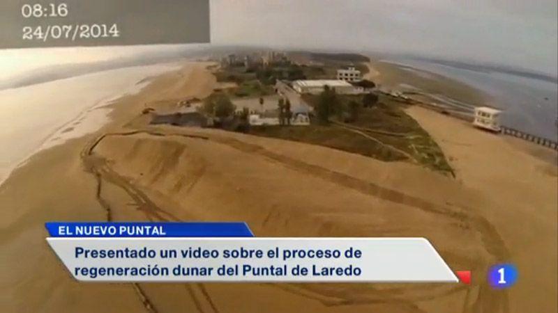 imagen de documental sobre la recuperacion dunar en laredo en el telediario de telecantabria